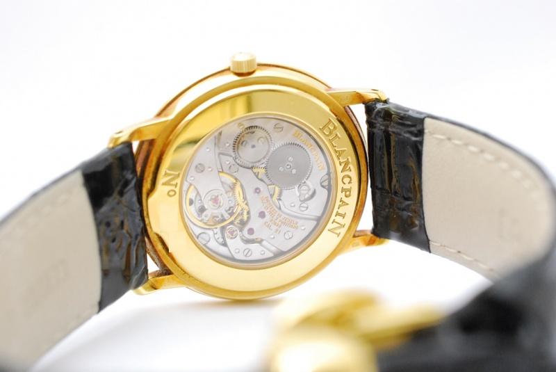 ブランパン/スリム 18金製手巻腕時計も高価買取!大手専門店に負けない時計の買取は樟葉駅200秒『質はしもと(有)橋本質店』