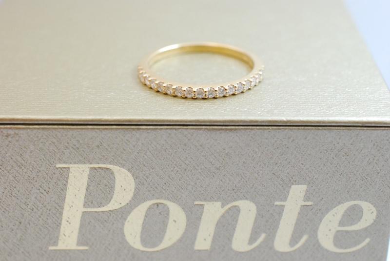 PV ポンテヴェッキオ ダイヤリング高価買取。宝石の値打ちをしっかり評価します。樟葉駅前でリサイクル『質はしもと(有)橋本質店』