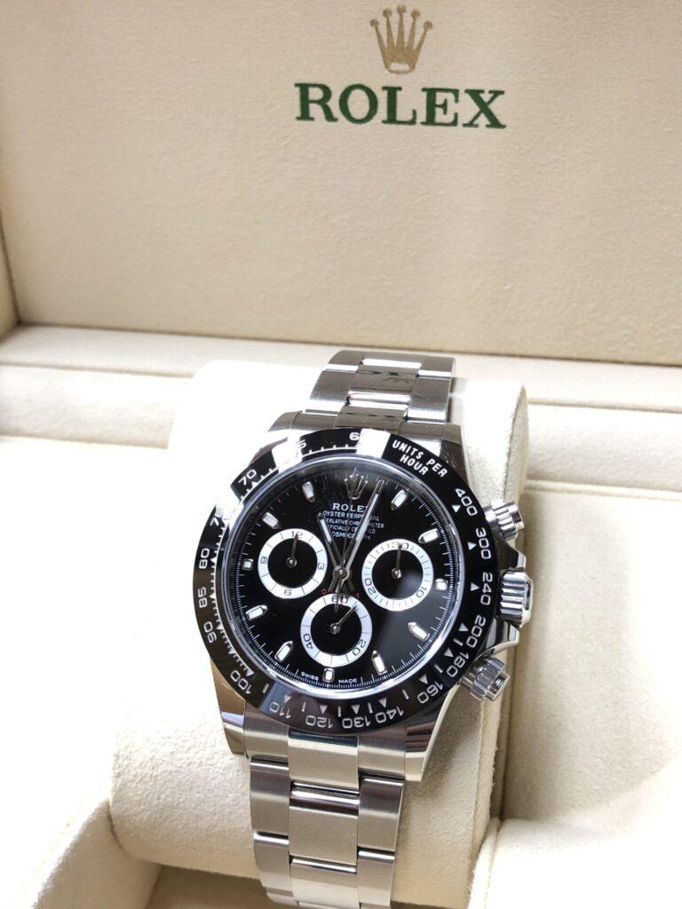 超高騰中Rolexデイトナ116500LN 買取成約頂きました。時計高価買取の実績があります。枚方市樟葉駅前まじめなリサイクル「質はしもと(有)橋本質店」
